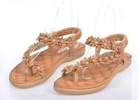 летом 2015 года женщин сандалии горный хрусталь цепи leuconostoc флип-флоп Сандалии плоский женский