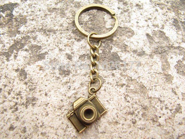 Wholesale~brass camera key ring camera keychain bronze camera Keychain antique jewelry steampunk gift(China (Mainland))