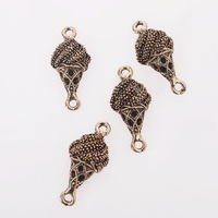 Fashion 30pcs/lot Wholesale Lovely Icecream Shape Antique Bronze Alloy Charms Fit Jewelry Making 18*12*6mm 147438