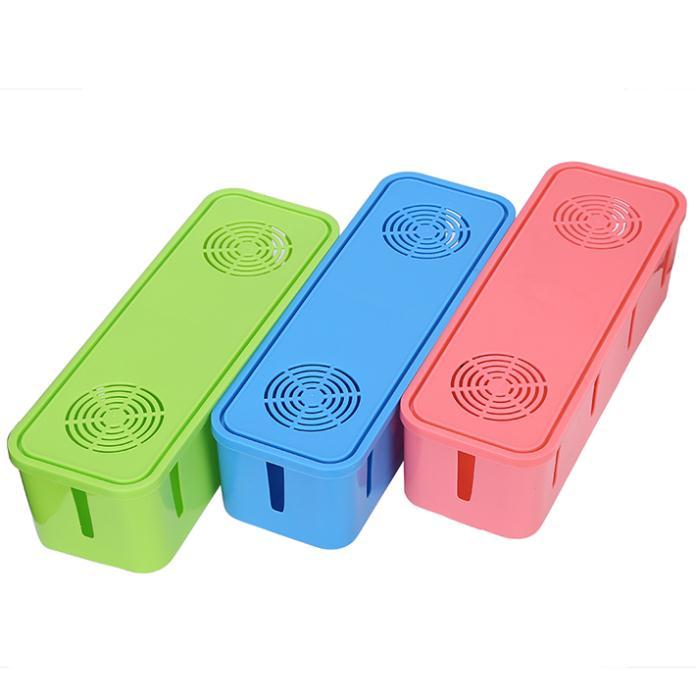 Multi Power Plug Socket Anti-dust Plastic Box Cable/Wire/Cord Organizer Storage Box Free Shipping(China (Mainland))