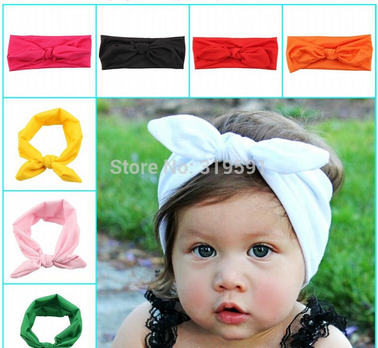 10pcs Baby Headbands, Girls Head wraps, Baby Head wraps, Jersey Knit Headwraps, Baby Headbands, Knott Headband, FD6519(China (Mainland))