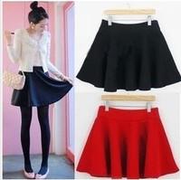 2015 spring autumn and winter women fashion pleated skirt 9 colors woolen short skirt  high waist skirts