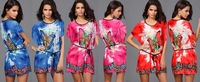 1pcs/lot Women's New O-Neck Batwing Sleeve Colors Sexy Bohemia butterfly Colors print dress Summer's dress 3color free shipping