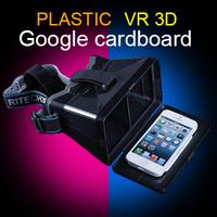 2015 Head Mount with NFC plastic version Google Cardboard  Virtual reality VR Oculus rift 3d glasses popular in American ebay