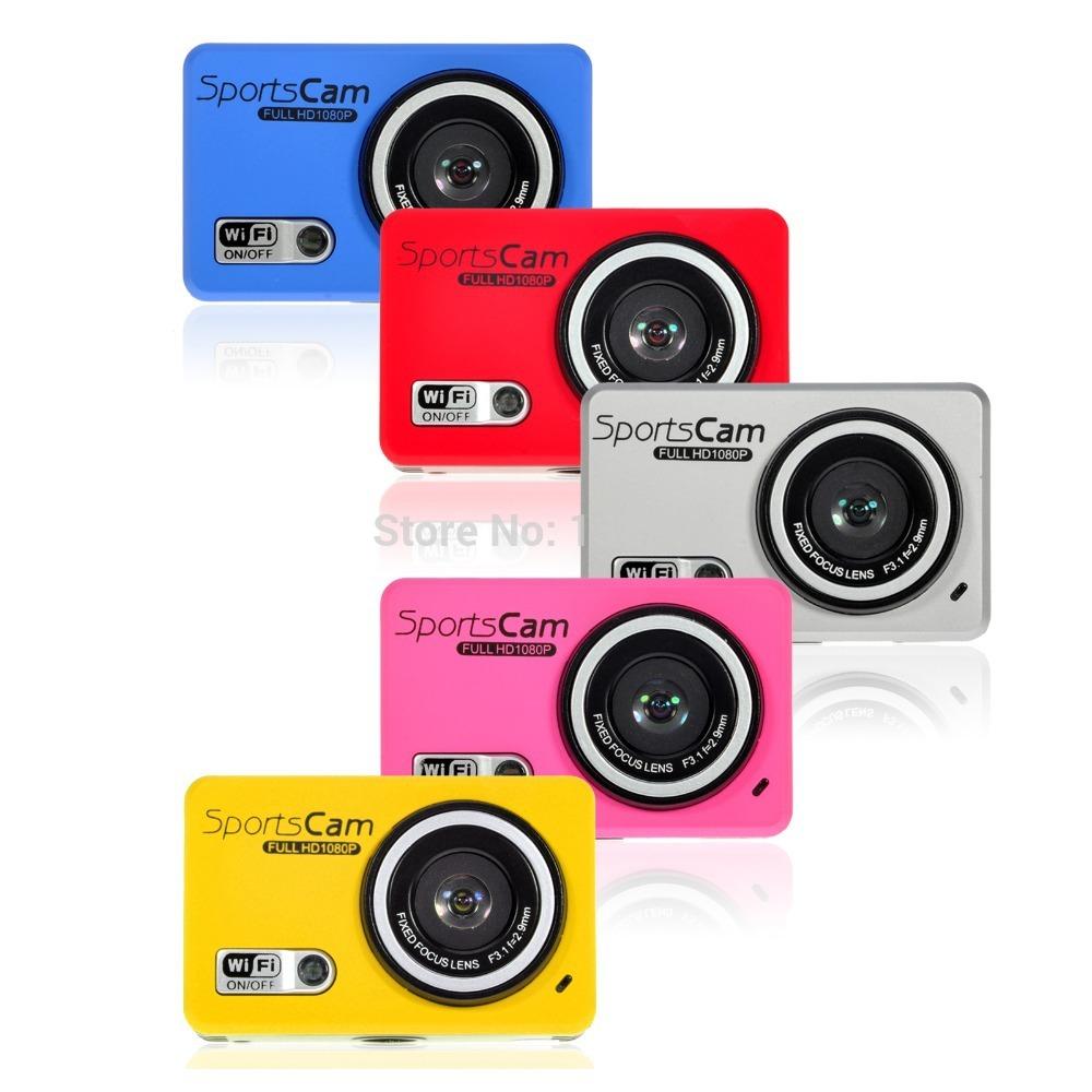 Фотокамеры и Аксессуары 1080P Wifi DVR DV GoPro sport camera waterproof lemfo wifi hd 1080p dv 30 gopro dv dvr xiaomi yi ccz acc 2208m