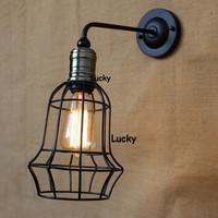 RH LOFT American Industrial Vintage RARE large Edison retro style wall lamps E27 bulb Ceiling lamp Coffee Shop Bar