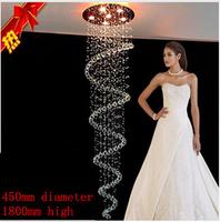 Luxury fashion crystal chandelier LED lamp sitting room dining-room chandelier crystal chandelier height K9 90-260V