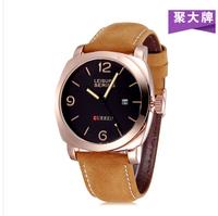 2014 hot sale CURREN 8158 Men Military Watches,Men's Leather Strap Sports Watches men luxury brand 100 Meter Waterproof  Relogio