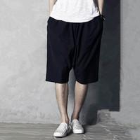 2015 Men cotton casual shorts & Capris,wide leg shorts,tropical comfortable soft middle long trousers,plus size M-5XL Men shorts