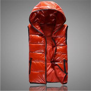 Новый горячих женщин элегантный стильный зима теплая толстые жилет дамы Большой размер тонкий куртка жилет вниз хлопка с капюшоном воротник пальто