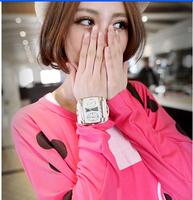 Fashion rectangle ladies leather strap watch men  big large dial wristwatch women dress quartz  military watches luxury brand