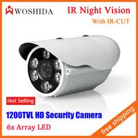 CCTV Camera 1200TVL HD Security Camera Night Vision Array IR LED Waterproof IP66 With IR-CUT Woshida