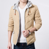 2014 Autumn winter jackets mens cotton casual thick warm down-jacket silm fit  outdoor sport  coat  for male masculina