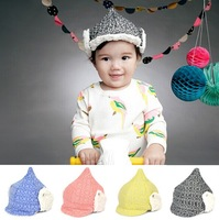 2015 The new children's winter hats lovely onion shape velvet ear Kids Bomber hats for baby girls boys (4 colors) Free shipping