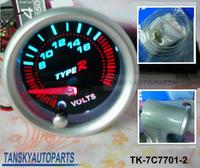 Free shipping  -( H Q ) 7 COLOR VOLT GAUGE TK-7C7701-2