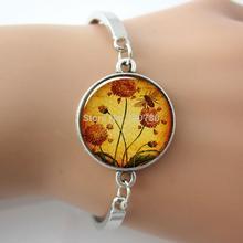 1 pc adjustable bangle bracelet wholesale Honey Bee Garden pendant honeybee bangle glass charm bracelet bangle