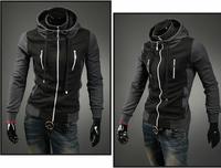 FREE SHIPPING,Fashion Slim Cardigan Hoodies Sweatshirt Outerwear jackets Men.Brand Causal Sports With Oblique Zipper   45