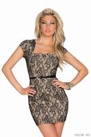 Slim Lace Peplum Dress ML18251 New Vestidos De Festa Free Shipping Midi Pencil Bodycon Dress Women Work Wear Club Party Dress