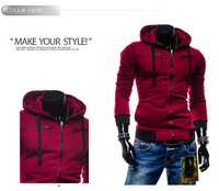 2014 fashion Jacket fashion double breasted with a hood jacket casual male luxury free shipping  60