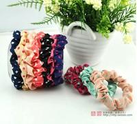 wholesale mix color 100pcs/lot rubber hair bands dot pattern fashion hair rope elastic  hair bands