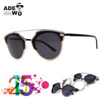 Fashion Icon Hot Double Beam So Real Sunglasses Women Flash Silver Sunglass Butterfly oculos feminino gafas de sol
