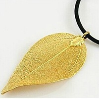 Girlfriend gifts limited edition 24k gold leaf pendant 999 fine gold necklace birthday