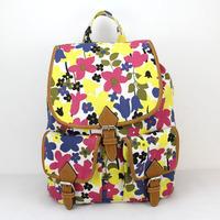 Women Girls Canvas Casual Backpack mochila Shoulder Bag Backpack travel sport Rucksack School Bag Daily Bags  H007 yellow