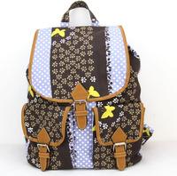 Women Girls Canvas Casual Backpack mochila Shoulder Bag Backpack travel sport Rucksack School Bag Daily Bags  H007 brown