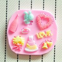 HOT Food-grade silicone cake mould,Fondant Cake Decorating Tools,Silicone Soap Mold,Silicone Cake Mold molde de silicone