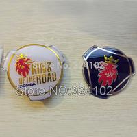 50pcs SAAB SCANIA King of the Road Truck Bonnet wiht 2 Big Pins Car Emblem Badges 80mm