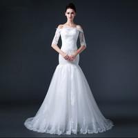 Free shipping 2015 Sexy Mermaid Strapless Wedding Dress Bridal Gown Vestido De Novia S010