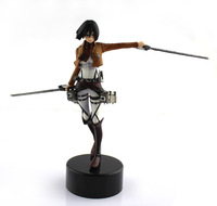 Free Shipping Attack On Titan Mikasa Ackerman PVC Figure Kids Gift Childeren Toys Cartoon Dolls