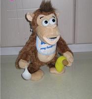 Free Shipping Funny Chimpanzee Plush Stuffed Animal Toy Do Not Touch My Banana Doll Kids Gift Children Presents