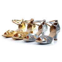 Самые низкие цены! высокое качество женщин Латинской танец обувь 6,5 см танец на каблуках продать обувь удобной атласной