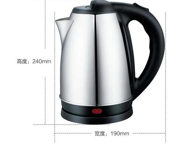 Elétrico de água batalha batalha a chaleira elétrica do aço inoxidável todos os automaticamente desligar L1.8 1.5 litros(China (Mainland))