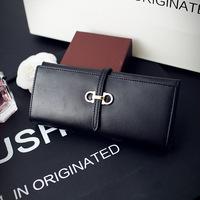 Free Shipping handbag long wallet leather wallet bag leather wallet big shop sign trend