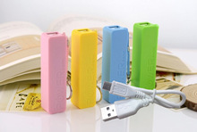 Portable Power Bank + USB Cable universal USB External Backup Battery for iPhone samsung use 18650 battery (Not include)