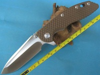 FAST Hong Kong Post FREE SHIPPING New Hinderer XM-18 Brown G-10 Handle Pocket Folding Brown-FXM18 Knife