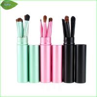 LB-02M  mix 5pcs/set Eyeshadow Brushes Eyeliner Brush Eye Concealer Brush  Eye Makeup Tool Cosmetic Kit with AL. Tube