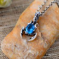 Black silver jewelry wholesale silver wholesale 925 Sterling Silver Scorpio male Pendant 043683w