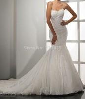 2015 Hot Sale Free Shipping Lace Up Vestidos De Novia Vestido De Festa Longo Fashionable New Sexy Mermaid Wedding Dress Custom