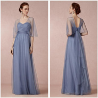 2015 New Arrival Cheap V-Neck Half Sleeve Open back Mother of the Bride Dresses