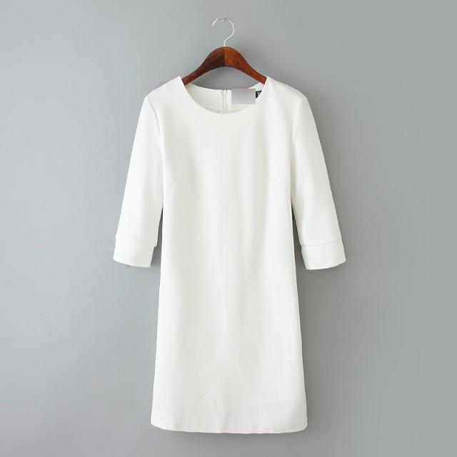 New Arrival Women Knitted Dress Elegant White Dress Brand Quality Slim Dress Formal Office Lady OL Shirt Free Shipping BD92(China (Mainland))