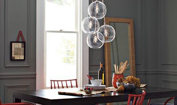 moderne hanglampen eetkamer verlichting bar decoratie glazen bol ...