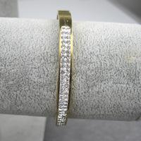 2014 Fashion Jewelry Women Stainless Steel Bangles Vintage Single Elastic Bracelet Charms Rhinestone Bangle Intervalle bangles