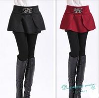 Autumn and Winter Short Skirts Women Temperament Fashion Skirt Women Woolen Skirt Free Shipping