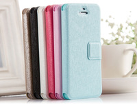 Silk Leather PU Card Slot Wallet Flip Stand Holder Case For Iphone 5/5S
