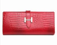 women purse genuine leather purses for women fashion brand design crocodile patent leather wallet H buckle clutch purse handbag