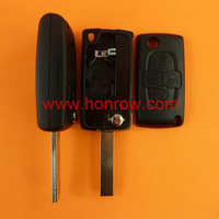 Citroen 4 button remote door key blank with 407 blade  ( HU83 Blade -4 Button- With battery place )