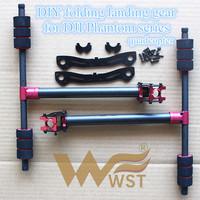 WST DIY Upgrade Carbon fiber folding landing gear with Aluminum tube clamp tee for DJI Phantom Series drones quadcopter